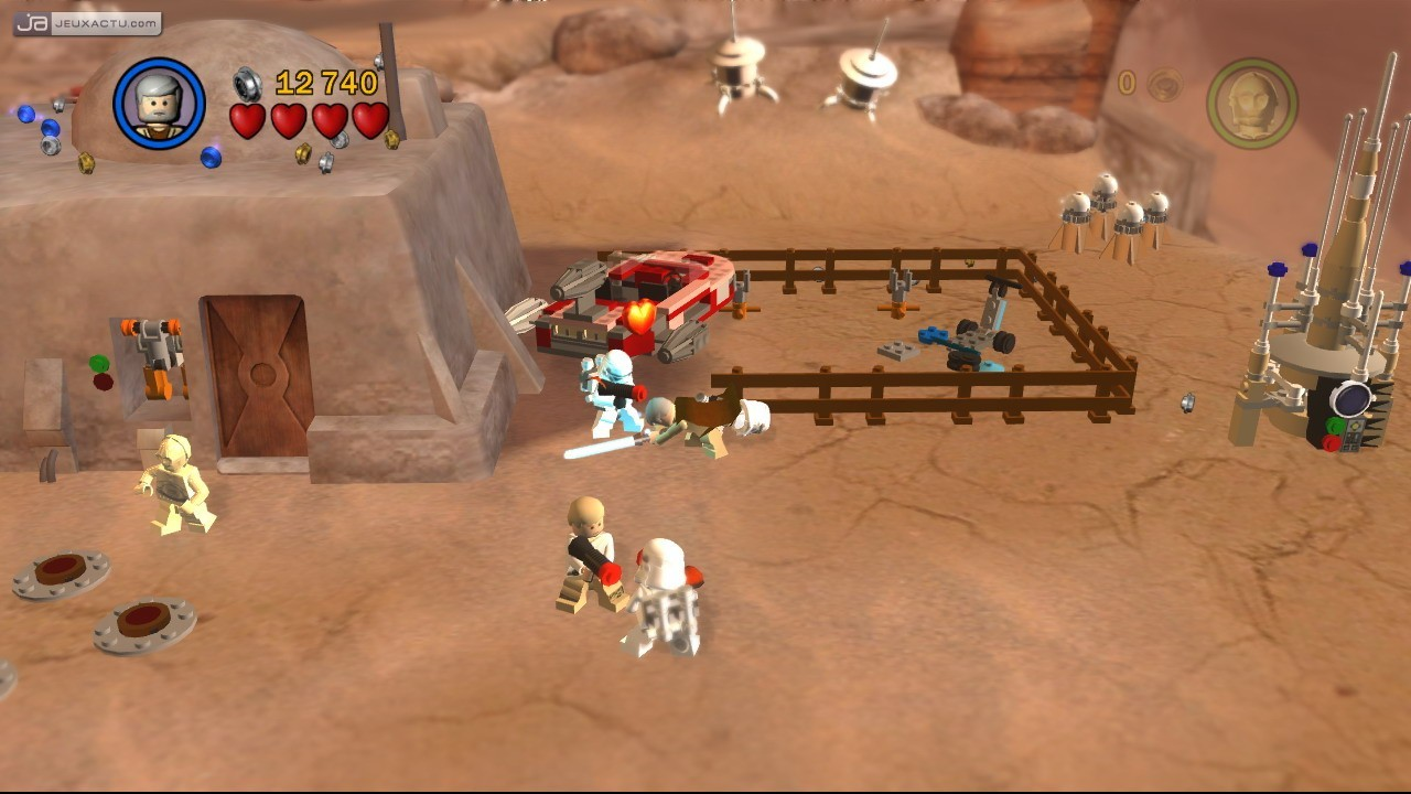 8 Sep 2006 ... Players use LEGO-ized Star Wars characters to reenact all three of the ...
