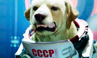 Gardiens de la Galaxie : Cosmo, le chien qui parle avec un accent russe, présent