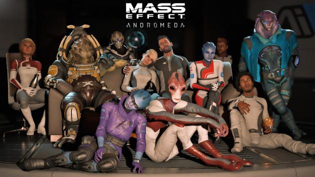 Non, ce n'est pas un skin SF des Sims 4, mais un artwork officiel de Mass Effect Andromeda