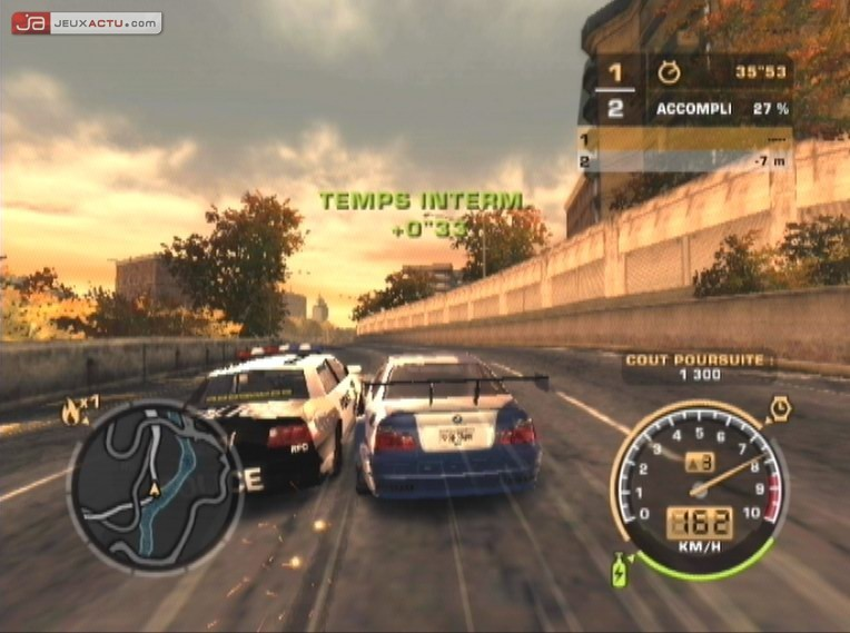 test need for speed most wanted sur playstation 2. Black Bedroom Furniture Sets. Home Design Ideas