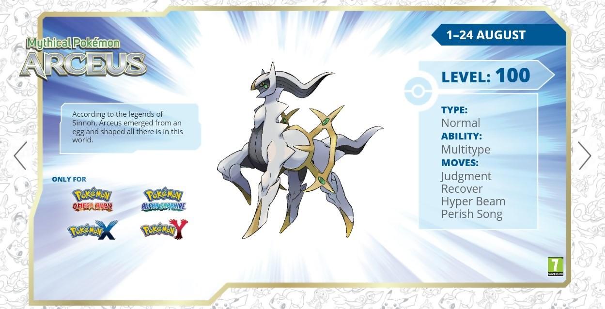 Pok mon le l gendaire arceus en t l chargement gratuit - Pokemon legendaire pokemon y ...