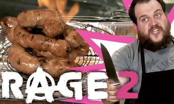 RAGE 2 : Gastronogeek fait des saucisses enflammées