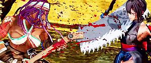 Samurai Spirits : trailer de gameplay de Darli Dagger et sa scie de bûcheron