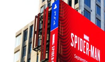 Spider-Man : un écran géant à Los Angeles rien que pour l'exclu PS4