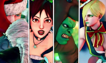 Street Fighter 5 : costumes de Noël pour Blanka, Cody, Sakura et Falke