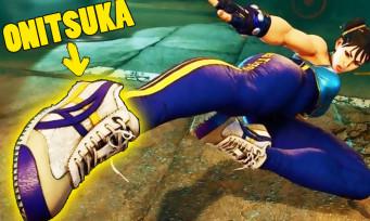 Street Fighter 5 : la publicité in-game revient avec des chaussures Onitsuka