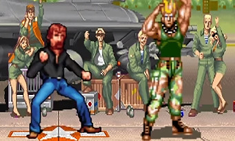Norris Fighter : le jeu vidéo parodie avec Chuck Norris