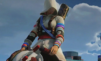 Sunset Overdrive : la skin Assassin's Creed en vidéo
