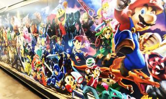 Super Smash Bros. Ultimate : une énorme pub incroyable en plein métro !