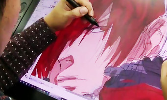 KOF 14 : quand l'illustrateur Eisuke Ogura dessine Iori Yagami en direct