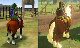 Zelda Breath of the Wild : le ranch Lon Lon a bien changé, le comparatif
