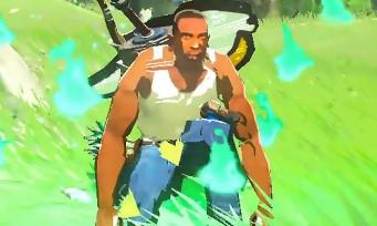 Zelda Breath of the Wild : un mod avec CJ de GTA San Andreas