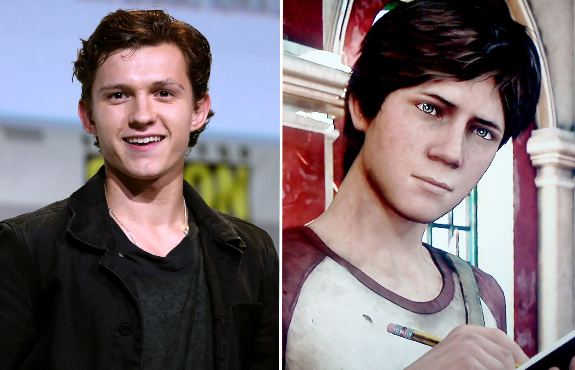 uncharted tom holland mark wahlberg